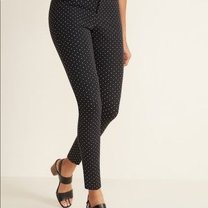 Old Navy Black Patterned Pants